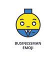 businessman emoji line icon sign vector image vector image