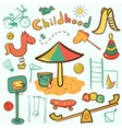 Cartoon children playground icon vector image vector image