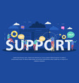 client support service flat composition vector image vector image
