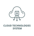 cloud technologies system line icon cloud vector image vector image