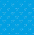 clown face pattern seamless blue vector image vector image