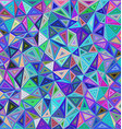 Colorful chaotic triangle mosaic tile background vector image vector image