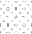 down icons pattern seamless white background vector image vector image