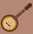 drawn folk musical stringed plucked instrument vector image