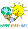 earth day style design collection vector image vector image