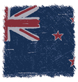 Flag of New Zealand handmade square shape vector image