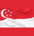 flag singapore vector image