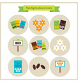 Flat Agriculture and Flowers Icons Set vector image vector image