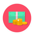 flat money icon vector image vector image