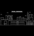 granada silhouette skyline spain - granada vector image vector image