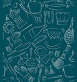 hand drawn kitchen elements set for menu vector image vector image