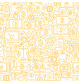 line bitcoin white seamless pattern vector image vector image