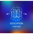 Logo library bookstore educational institution vector image