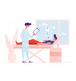 man lying in clinic department chamber in hospital vector image vector image