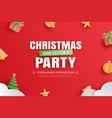 merry christmas party invitation card in paper vector image vector image