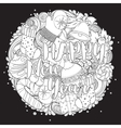 Merry christmas set of xmas monochrome pattern vector image vector image