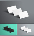 Mockup of three gift or bank cards with shadows