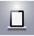 modern computer tablet on shelf vector image