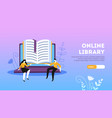 online library landing page vector image vector image