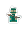 paper sticker on white background plane takeoff vector image vector image