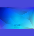 polygon abstract background blue triangles mosaic vector image vector image