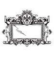 renaissance strap-work frame was a picturesque vector image vector image