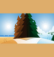 road and summer or winter vacation destination vector image
