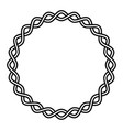 round frame braided cable wavy lines in circle vector image
