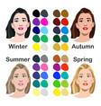 seasonal color analysis vector image vector image