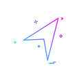 send button icon design vector image