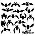 set black bats vector image