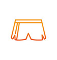short pant sport gym fitness line vector image vector image