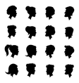 Silhouettes profiles vector image