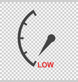 speedometer tachometer fuel low level icon flat vector image vector image