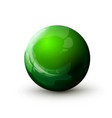 sphere with reflected light green ball mock up vector image vector image