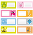 stickers with cute animals vector image vector image