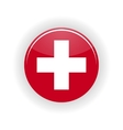 Switzerland icon circle vector image vector image