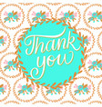 thank you pattern background card vector image