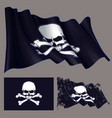 waving pirate flag jawless skull and bonesxa vector image