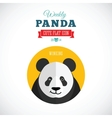 Weekly Panda Cute Flat Animal Icon - Winking vector image