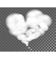 White cloud shape of heart on transparent vector image vector image
