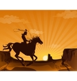 Wild West Landscape Poster vector image vector image
