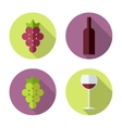 Wine set Winemaking products in flat style vector image vector image
