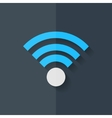 Wireless web icon Flat design vector image