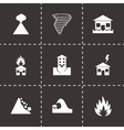 black disaster icon set vector image