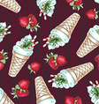 Watercolor Seamless pattern with peppermint ice vector image