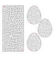 a set of labyrinths in the form of eggs and vector image vector image