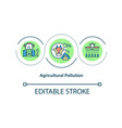agricultural pollution concept icon