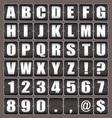 alphabet ticker board vector image