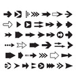 arrows collection set silhouettes vector image